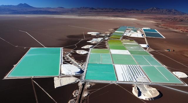 Mine de lithium dans le salar d'Atacama - Chili