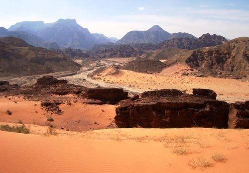 Jordanie : désert du Wadi Araba